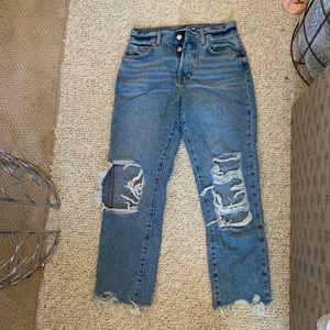 Butter fly vintage looking boyfriend jeans